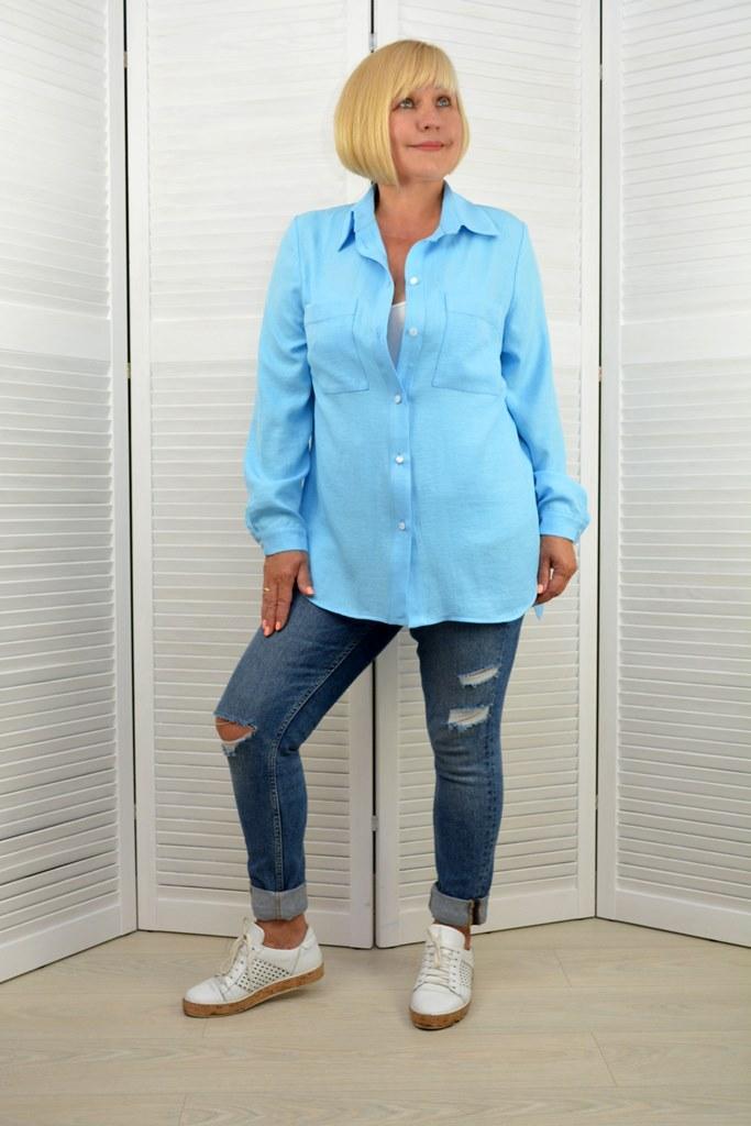 Блакитна сорочка - Модель 1677-7