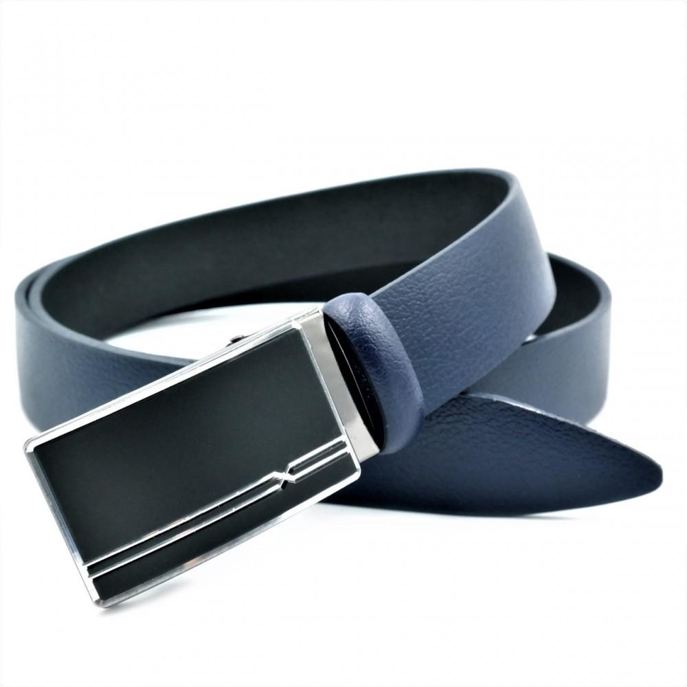 Мужской кожаный ремень Weatro Синий nwm-35zjk-0014