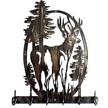 Настенная художественная вешалка для дома (c охотничьим мотивом)
