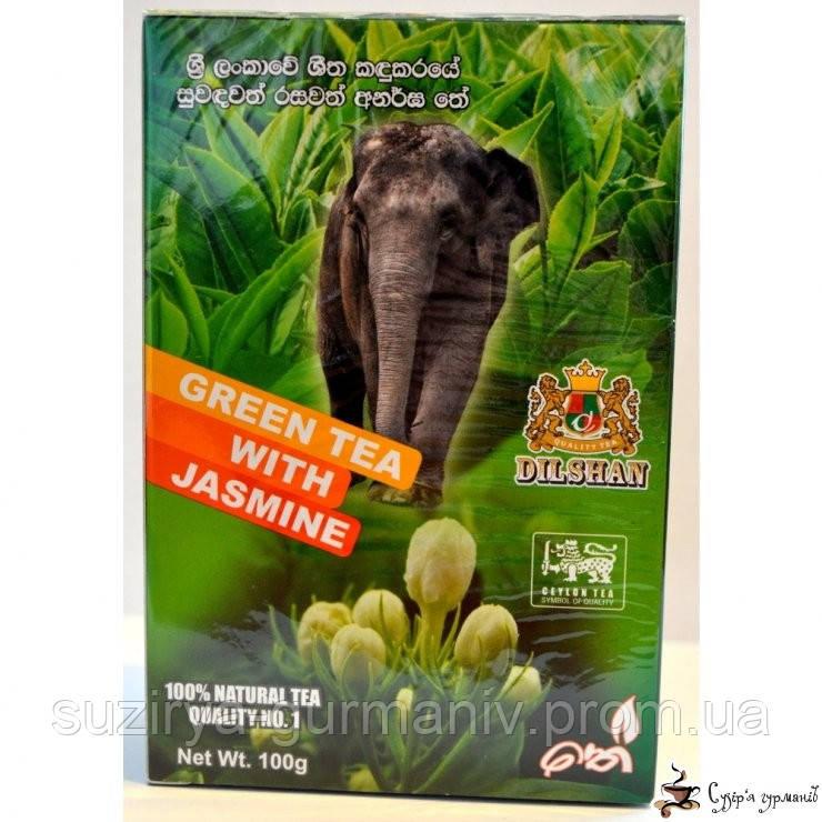 Зеленый чай DILSHAN Жасмин 100г, фото 1