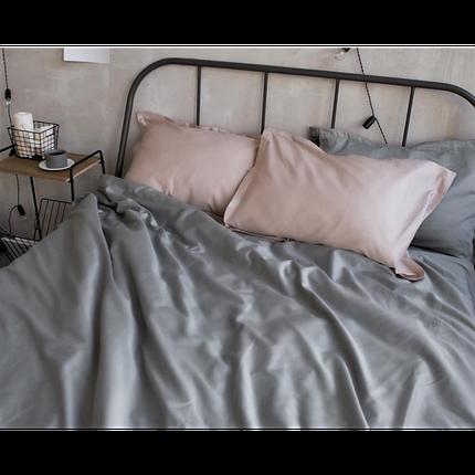 Постельное белье сатин Light Grey (Турция) ТМ Царский дом  (Двуспальный), фото 2