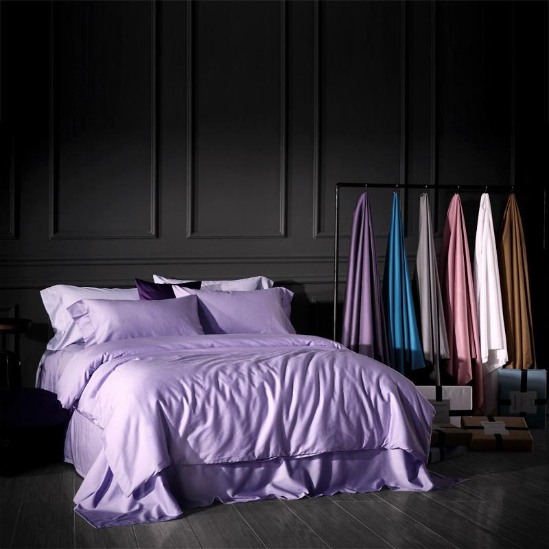Постельное белье сатин Purple (Lilac) (Турция) ТМ Царский дом  (Двуспальный)