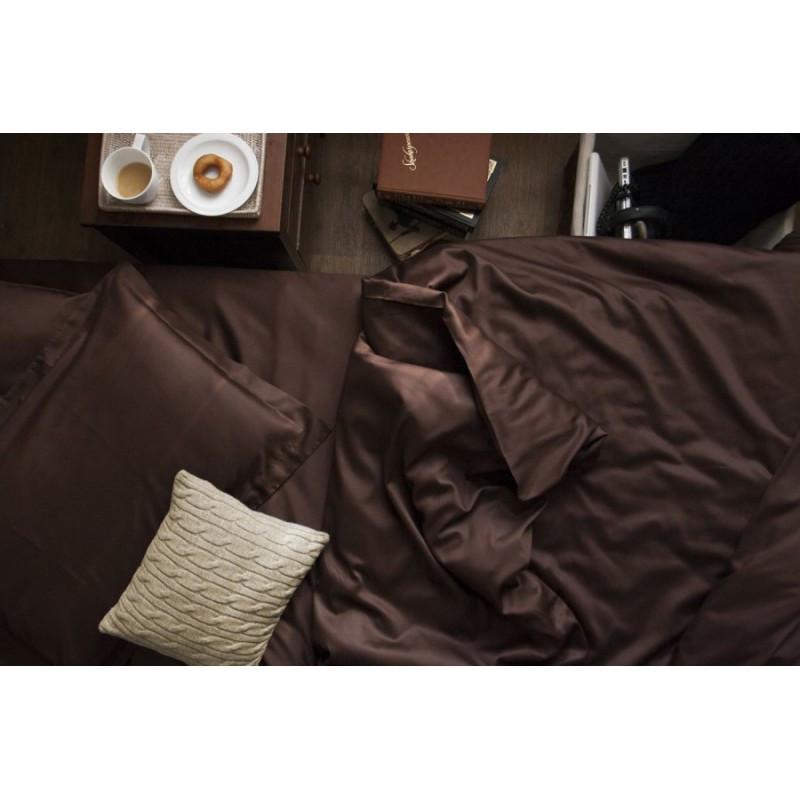 Постельное белье сатин DARK CHOCOLATE ТМ Царский дом  (Евро)