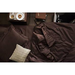 Постельное белье сатин DARK CHOCOLATE ТМ Царский дом  (Евро), фото 2