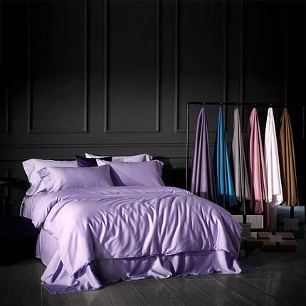 Постельное белье сатин Purple (Lilac) (Турция) ТМ Царский дом (Семейный), фото 2