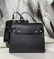 Женская каркасная сумка офисная деловая классическая небольшая экокожа, фото 1