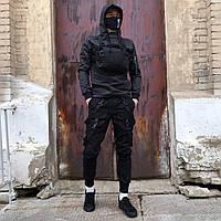 Куртка анорак ветровка мужская Пушка Огонь Wildscar черная