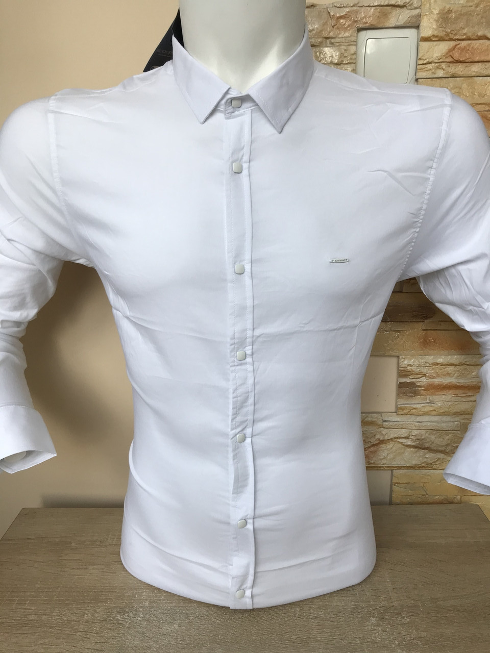 Рубашка с длинным рукавом Black Stone белая