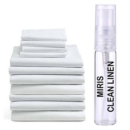 Пробник Духів MIRIS Clean Linen (Аромат Чистої Білизни) Унісекс 3 ml, фото 2