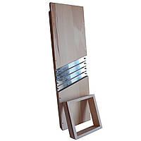 Большая надежная, прочная деревянная шинковка для капусты на болтах, фото 1