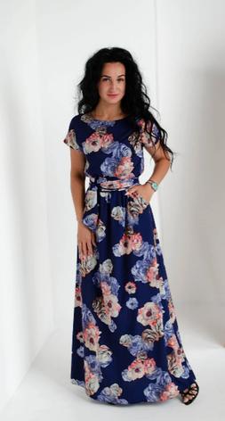 Летнее легкое длинное платье размеры 44-46, 48-50, 52-54, фото 2