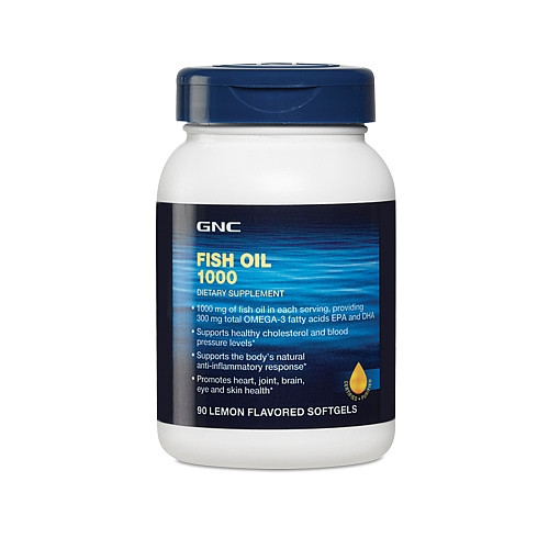 GNC Fish Oil 1000 90 softgels caps