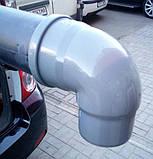 Колено трубы ф110 в трубу ф100 водостока для парапетной воронки, фото 4