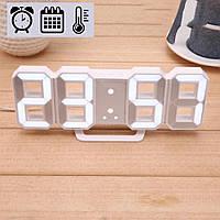Электронные LED часы с будильником термометром от USB Caixing CX-2218 белая подсветка