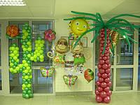 Вечеринка в гавайском стиле.Оформление воздушными шарами.