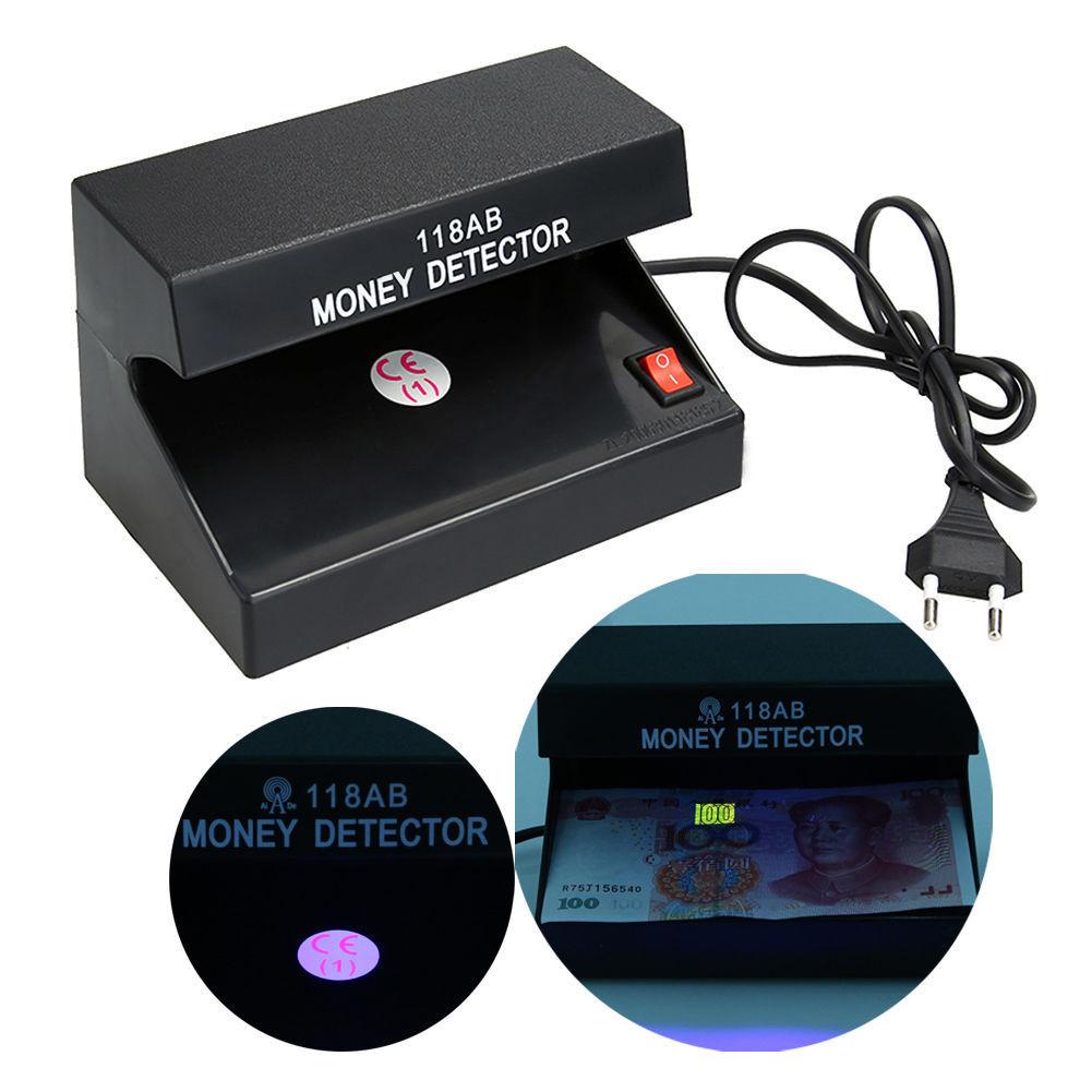 Ультрафиолетовый детектор валют AD 118AB от сети 220В и от батареек | Money detector