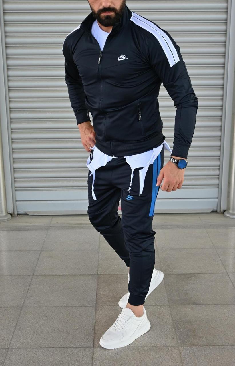 Мужской спортивный костюм NIKE Турция черный с белым