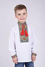 Вышиванка для мальчика из домотканного полотна