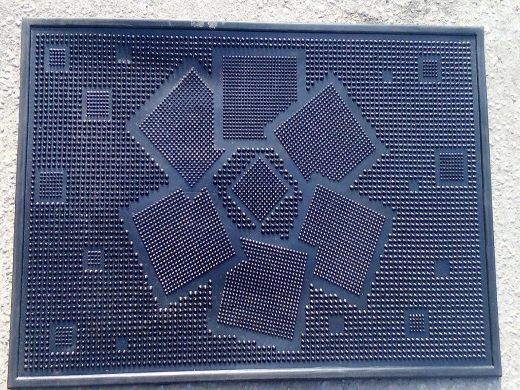 Коврик резиновый придверный Ромашка 45х75см.