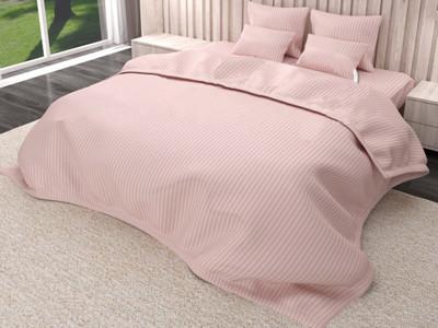 Комплект постельного белья страйп сатин семейный размер