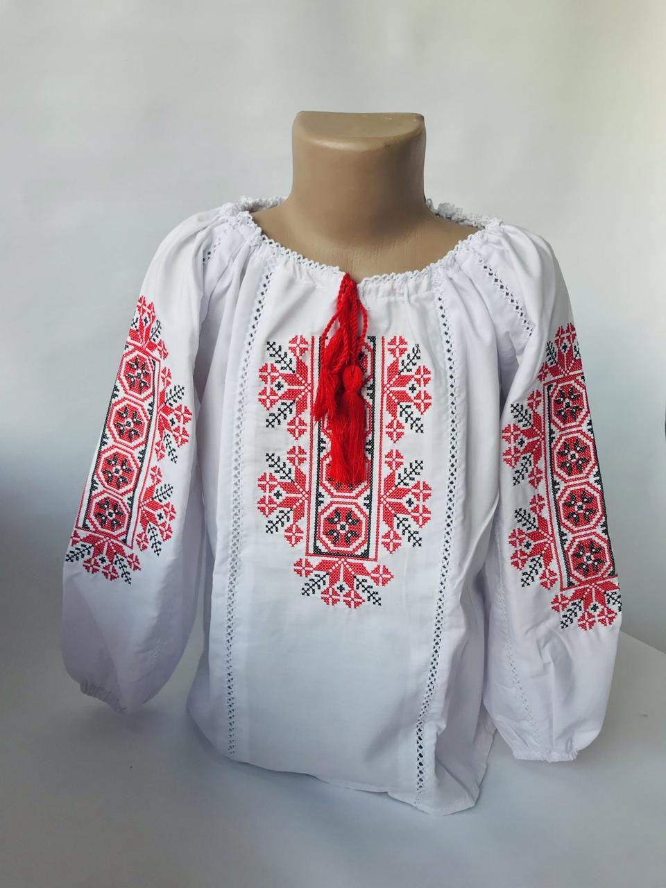 Стильная вышиванка для девочки