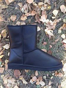 Мужские Ugg Australia кожаные черные VO-23