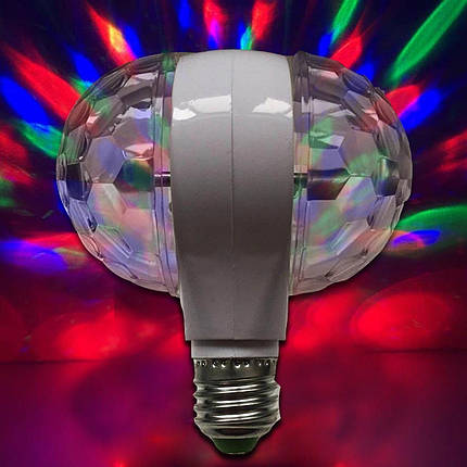 Светодиодная двойная вращающаяся Диско-Лампа LED Magic Ball Light, фото 2