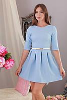 Платье короткое мини структурный трикотаж р.46-48 Yam151.7