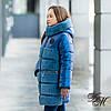 """Зимова куртка - шубка для дівчинки """"Плюшу"""" перламутр"""