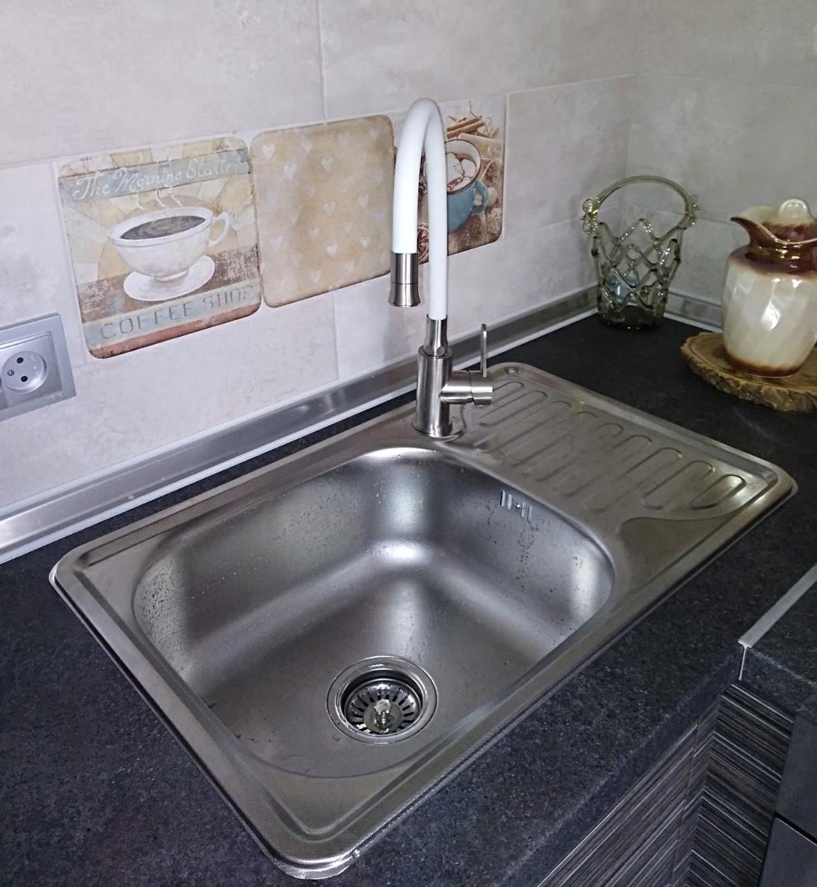 Мойка для кухни Platinum 6642 Decor 0,8мм декорированная