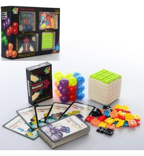 Гра магнітна, головоломка, кубик-рубик, картки, в коробці, 23-17,5-6,5 см