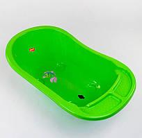 Ванночка зі зливом дитяча BIMBO колір салатовий, нековзні ніжки, велика