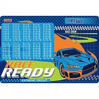 """Канцелярське приладдя Підкладка для столу 1 вересня дитяча """"Street race"""" (табл.множення)"""