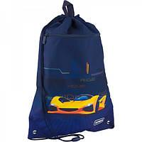 Дитяча Сумка для взуття Kite з кишенею Fast cars