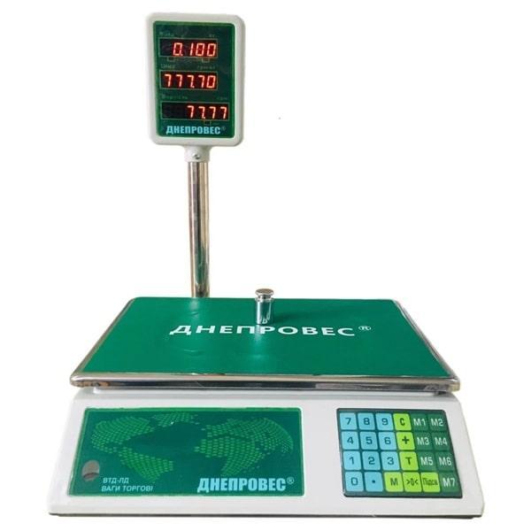 Весы торговые Днепровес ВТД-ЛД (15 кг)