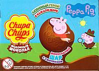 Шоколадные шары Чупа чупс Свинка Пеппа Chups Chups, 18 шт