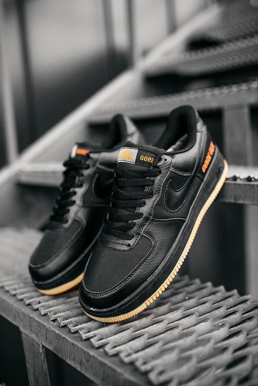 Мужские черные Кроссовки Nike Air Force 1 GORE-TEX