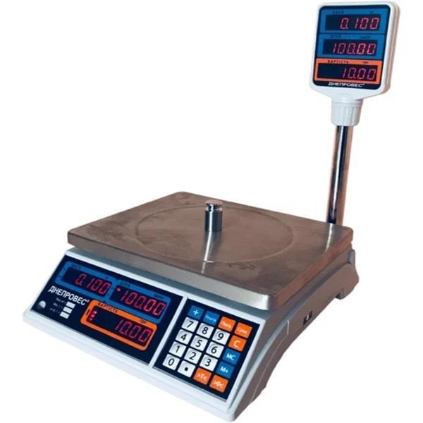 Весы торговые Днепровес ВТД-Т2-СВ (30 кг)