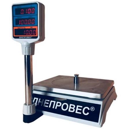 Весы торговые Днепровес ВТД-Т2-СВ (30 кг), фото 2