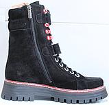 Ботинки высокие женские зимние замшевые от производителя модель КЛ230-1, фото 3