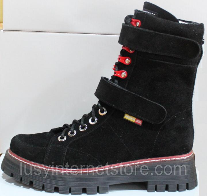 Ботинки высокие женские зимние замшевые от производителя модель КЛ230-1