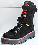 Ботинки высокие женские зимние замшевые от производителя модель КЛ230-1, фото 2
