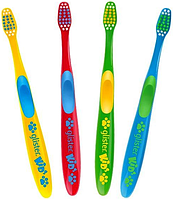 Glister kids детская зубная щетка 4шт