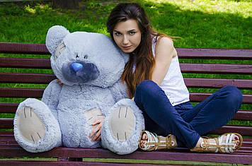 Плюшевий Ведмедик Потап 90 см Сірий