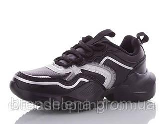 Женские кроссовки  черные р36-41 ( код 2152-00)