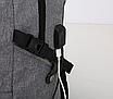 Рюкзак мужской городской Dxyizu черный, фото 6
