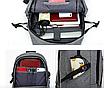 Рюкзак мужской городской Dxyizu черный, фото 5