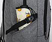 Рюкзак мужской городской Dxyizu черный, фото 8
