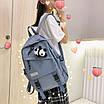 Рюкзак в корейском стиле унисекс для ноутбука учебы в расцветках, фото 4