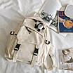 Рюкзак в корейском стиле унисекс для ноутбука учебы в расцветках, фото 9